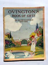 1930s Ovington's Book of Gifts Catalog Cover by Rosse