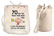 The Years Have Been Kind 70th Birthday Present Duffle Backpack Bag - Funny Gift