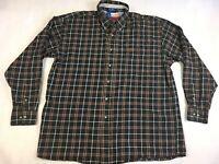 Wrangler George Straight Button-Down Long Sleeve Plaid Shirt - Mens Size XXL