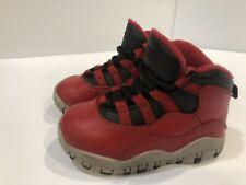 Baby Toddler Child Air Jordan 10 Retro Bulls O Broadway Red 310808-601 6C Shoes
