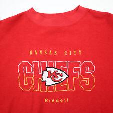 Vtg Kansas City Chiefs Football Sweatshirt sz XL Riddell 80s 90s Red Soft