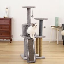 New listing Cat Craft 45-in Cat Condo and Scratching Post Cat Tree Tower, Dark Gray