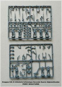 PERRY MINIATURES Grappes Cdt & Infanterie Brit. 1877-85 Figurines 28mm plastique