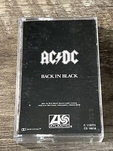 AC/DC Back In Black CASSETTE Atlantic US 1980