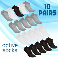 10 pairs Ladies Sports Trainer Socks Ankle Liners Gym Everyday Active Activewear