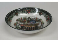Royal Stafford Christmas Eve Fireplace 4 Soup Cereal Bowls Made in England NWT