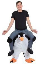 Adult Penguin Shoulder Piggy Back Ride On Carry Fancy Dress Costume Outfit New