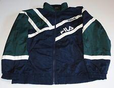 FILA Italia VTG 90's Windbreaker Track Jacket Full Zip Up Embroidered Size - L