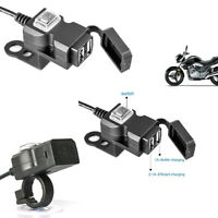 Chargeur Adaptateur 12V Prise Dual Port Usb Guidon Moto Étanche