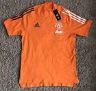 NEW Adidas Manchester United Training T-Shirt Bahora/Black Size Medium