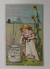 Mother Goose Series Nestlé's Milk Food Tom Tucker Vintage Trade Card Ad