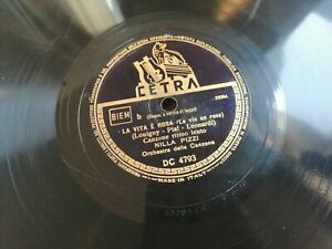 78 Tours Nilla Pizzi Il Brat La Vie Est Rose La Voies An Rose Cetra Dc 4793 1948