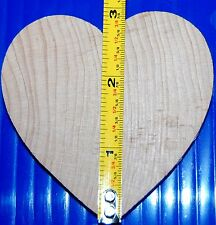 """Classic Heart Wood Cut Out 3 inches X 1/4""""  Great Painting Surfaces & Ornaments!"""