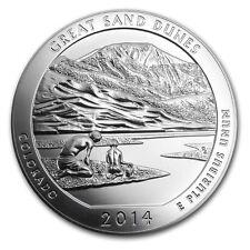 2014 America The Beautiful Great Sand Dunes 5 oz .999 Fine Silver BU ATB