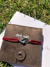 Bracelet Dinh Van R10 Argent Rouge Bordeaux