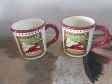 Coynes & Company Santa Claus 'Celebrate' Coffee Mugs Set of 2