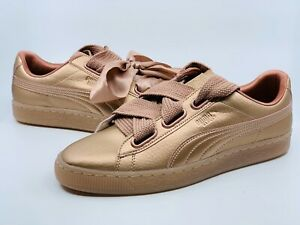 Puma Women's Basket Heart Copper Sports Shoes Everyday Trainers US 9.5