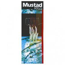 MUSTAD HOKKAI HOCKEYE TRACE 3 HOOK RIG RED 3/0 TO 60lb MONO SEA FISHING