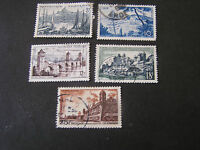 FRANCE, SCOTT # 775-779(5), 1955 VARIOUS LOCAL SCENES ISSUE USED