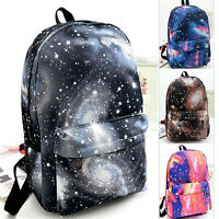 HK- Unisex Galaxy Space Backpack Travel Rucksack Canvas Storage School Bags Opti