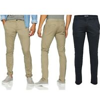 Men's Slim Fit Chinos Trouser Only & Sons Stretch Beige khaki Pants Sizes 30-36