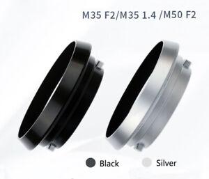 Black Leica Metal Hood NO.12504 E39 LM Lens Summicron M35/2 M50/2 M35/2.8
