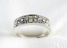 Genuine Marcasite Ring in 925 Sterling Silver Size 5.5