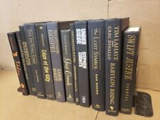 Lot of 10 Hardcover BLACK Book for Staging Prop Decor Gold-Silver-Copper Letters