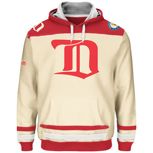 NHL Detroit Red Wings Hooded Pullover Hoody Hooded Jersey Sweater Minor Vintage