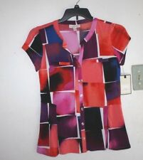 New Dana Buchanan Shirt Womens size S Spandex Multicolored  Retail $40 -DDDD