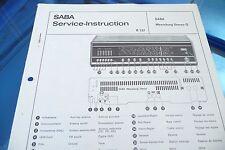 manuale di servizio per Saba Meersburg Stereo G ,ORIGINALE