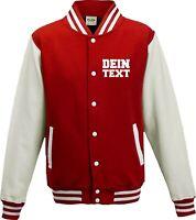 Varsity College Jacke mit Wunschdruck viele Farben Partnerlook Jacken S6904164m