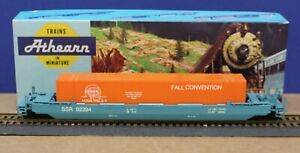 Athearn HO Gunderson Husky Stack Well Car w/ Container NMRA Sunshine Region 1994
