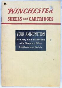 WINCHESTER FIREARMS SHELLS & CARTRIDGES HANDBOOK BOOKLET 1938 VINTAGE HUNTING