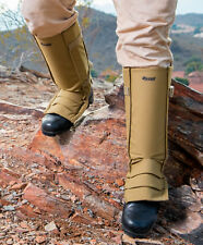 Snake Gaiters with Storage Bag - Snake Bite Protection for Lower Legs - Tan