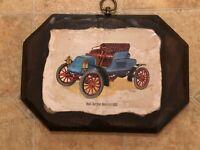 Solid Wood Wall Plaque - Nash Rambler Runabout 1902 Antique Car