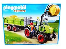 Playmobil Country Tractor With Trailer & Accessories 5121 - Farm Toy- 4 Years +
