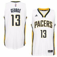 Paul George Indiana Pacers NBA Adidas Men's White Official Home Replica Jersey L