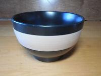 "Mikasa Studio Nova BAMBOO BLACK HA220 Soup Cereal Bowls 6 1/8""   4 available"