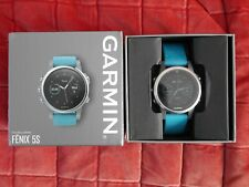 Garmin Fenix 5S 42mm Silver Case with Turquoise Band Multisport GPS Watch