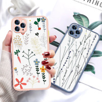 Flower Painted Phone Case For iPhone 12 Case Mini 11 Pro Max Protective PC Soft