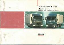 CAMION IVECO TECTOR EURO CARGO 6-10 T Manuale di istruzioni 2004 manuale BA