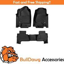 SMARTLINER Floor Mats Liner 2 Row Set for Suburban / Yukon XL Bench Seats Black