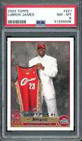 Lebron James Rookie Card 2003-14 Topps #221 PSA 8