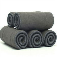 best Bamboo Fiber Charcoal Washable Cloth Nappies Diaper Insert Reusable 5Layers