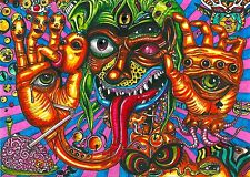 "Psychedelic Trippy Art Silk Cloth Poster 17 x 13""  Decor 112"