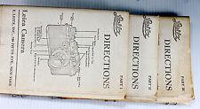 Original Leica Leitz Directions Manual  - Part I, II, III - old photocopies