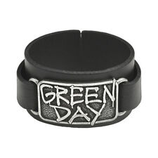 OFFICIAL Greenday Leather Bracelet by Alchemy Gothic | Ladies Mens Wriststrap