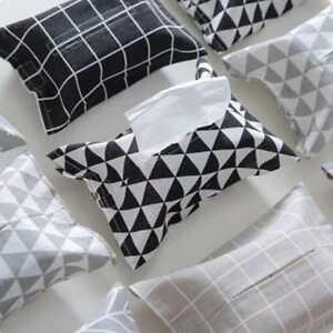 Tissue Holder Home Decro Napkin Neat Zakka Paper Towel Kitchen Box Storage FA