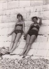 1960 Sexy Nude women girls in swimsuits sunbathing old Russian Soviet photo